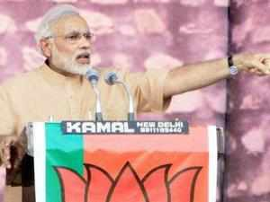 Modi said BJP projected him as its prime ministerial candidate despite his humble origin as one who had once sold tea in trains.