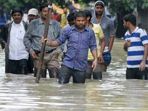 Incessant rains in Guntur district (AP) for the last four days killed three persons, while about 140 sheep were washed away in swirling waters, besides damaging 40 dwellings and rendering 11,000 people homeless