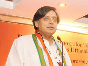 "Tharoor today praised the Uttarakhand government for the ""exemplary way"" in which it carried out rehabilitation work after the mid-June flood disaster. (BCCL)"