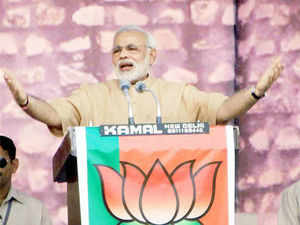 The incident came just hours before BJP Prime Ministerial candidate Narendra Modi was to address a rally in the Bihar capital.
