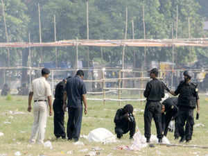 Two days after serial blasts at Gandhi Maidan during BJP's Hunkar rally, a bomb was today recovered from there and defused.