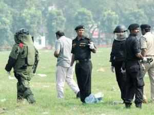 The Patna Police had recovered five bombs yesterday from the ground which were defused by the NSG bomb disposal squad.