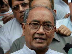 """Modi must keep in mind that it was he (Patel) who had banned the RSS for inciting communal violence,"" Digvijay Singh said."