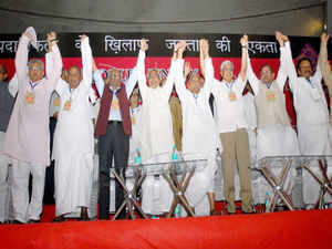 The convention, organized by the Left parties, is being seen as an attempt for forge a conglomerate of non-Congress and non-BJP parties ahead of the 2014 Lok Sabha elections.