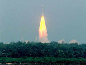 """""""ISRO's satellites are people-centric and application-centric.. I can proudly say space has brought many services to the country"""", K Radhakrishnan said. (PTI)"""