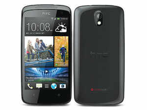 Desire is the name HTC gives to its mid-range offerings and this phone, the Desire 500, looks decidedly mid-range too.