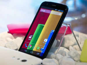 """Moto G will be in more than 30 countries by 2014. The company said the device delivers a premium experience for """"a third of the price of high-end phone"""". (AFP)"""