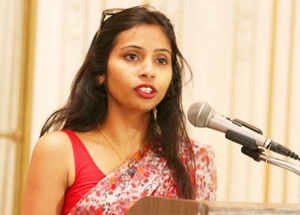 """US State Department spokesperson Marie Harf made it clear that 39-year-old Khobragade will have to face the """"very serious"""" allegations."""