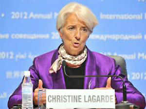 While Lagarde didn't specify any new figures in the interview, the Washington-based fund typically issues revised forecasts in January.