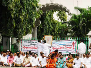 Legislators from Telangana joined their Seemandhra colleagues in stalling proceedings of the House over the state bifurcation issue today.