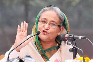 Bangladesh's Prime Minister Sheikh Hasina has kept crucial portfolios of defence, home and foreign affairs with herself as she distributed portfolios among her new Cabinet members.