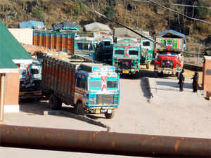 The stand-off between India and Pakistan over the truckers issue entered the fourth day today with PoK authorities suspending cross-LoC bus service