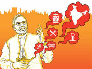 The vision of India that Narendra Modi has outlined is a lot like the palace produced by the genie. It can have anything and everything.