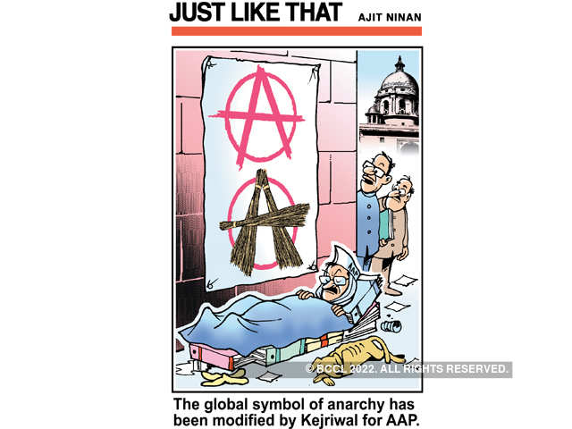 Anarchy Symbolism Khaas Cartoons On Aam Aadmi Party The