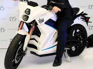Terra Motors Corporation today unveiled an electric superbike, Kiwami, in India priced at Rs 18 lakh (ex-showroom Delhi)