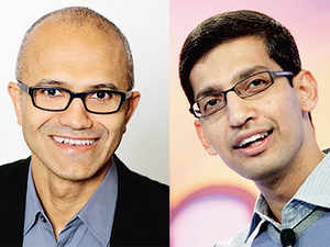 Nadella, who has been with Microsoft 12 years longer than Pichai at Google, is as clued in on the enormity of the challenge that faces Microsoft.