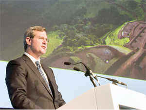 File image:Alan Davies, Rio Tinto's Chief Executive Diamonds and Minerals, speaks at the 20th Annual Investing in Africa Mining Indaba on February 4, 2014.