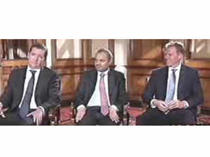 'The market can survive even if some of the asset bubbles deflate, but it will definitely do fantastically well,' saysDavid Juxon (extreme right)