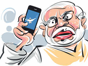 """""""The app called NaMo is designed to help people in distress in a silent fashion,"""" says Tajendarpal Singh Bagga, the man behind the initiative."""