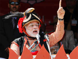 """Modi, at a rally in Pasighat in Arunachal Pradesh on Saturday, asked China to shed its """"expansionist mindset""""."""