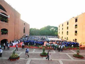 Students at IIM-Ahmedabad's 48th Convocation in Ahmedabad.