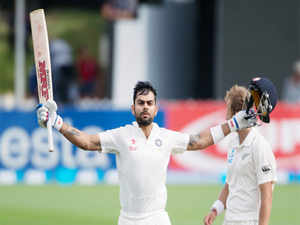 India batsman Virat Kohli today rose to his career-best eighth position in the latest ICC Test rankings issued here today.
