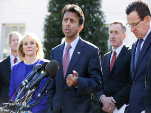 """Indian-American Louisiana governor Bobby Jindal said the tone at the meeting with Obama was respectful, but there were """"serious substantive differences""""."""