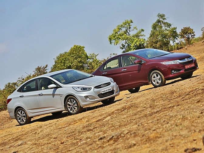 New honda city diesel vs hyundai verna diesel comparison for Honda or hyundai