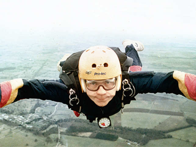 John Holden, the 47 year old CEO of Canara HSBC Oriental Bank of Commerce Life Insurance Company was a skydiving enthusiast when he was with HSBC in the UK and did a total of 198 jumps over the Bristol countryside.