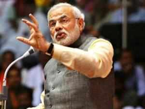 """Modi slammed Congress for their attitude towards various problems faced by the country, saying """"they speak as though they have come from Mars."""""""
