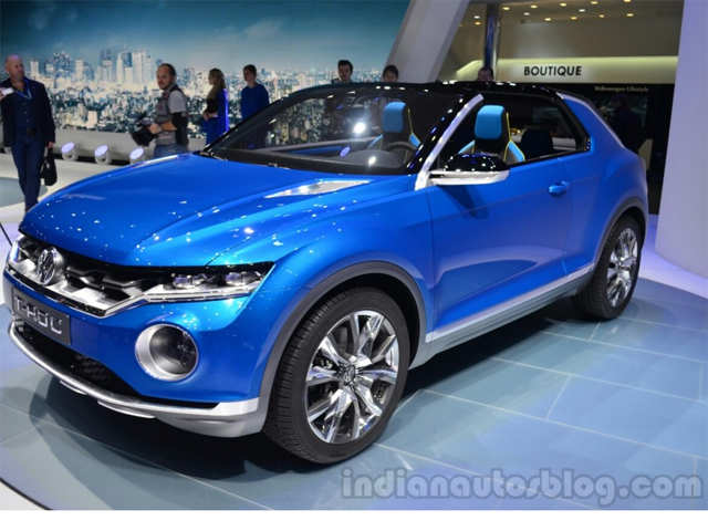 vw t roc concept unveiled in geneva vw t roc concept suv. Black Bedroom Furniture Sets. Home Design Ideas