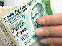 The rupee jumped 32 paise to 61.43 a dollar in early trade today at the Interbank Foreign Exchange on sustained selling of the US currency.