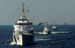 Navy inducts offshore patrol vessel INS Sumedha into its fleet