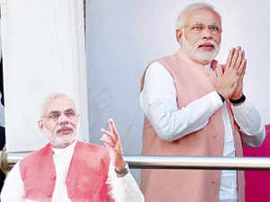"""At the top is Modi, who Prashant Trivedi of the Giri Institute in Lucknow describes as a """"peculiar mix of hard Hindutva and neoliberal economic policies"""", adding that this is """"the way the party will go in future""""."""
