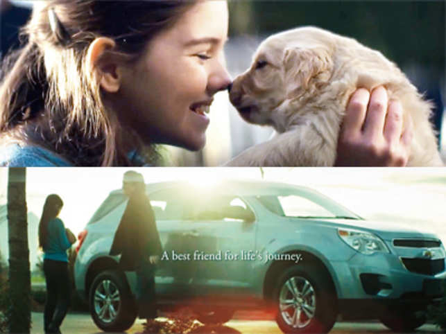 A loving tribute to pets or a transparent, cynical ploy to push cars?