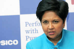 PepsiCo CEO Indra Nooyi got a pay package worth $13.2 million last year, representing a 5 percent increase from the previous year.