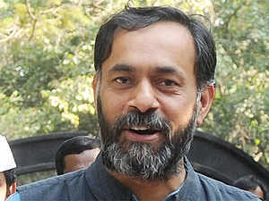 AamAadmiParty'sYogendraYadavon Tuesday accused rival candidates from Congress andBJPof under-valuing their property.