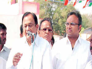 How does finance minister P Chidambaram hard sell the candidature of son Karti Chidambaram, who is on his maiden electoral venture in a seat where the arithmetic is not exactly stacked up in his favour? The answer is to present it as a two-for-one deal.
