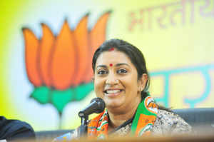 TheBJPhas announced on Monday evening that its vice-presidentSmritiIraniwill contest fromAmethiLokSabhaconstituency, Times Now reported.