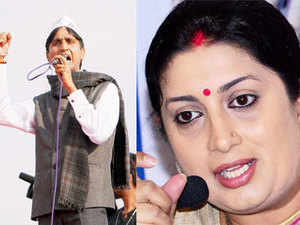 """Reacting to the jibe, Irani said, """"The understanding between AAP & Cong is publicly known and was very visible when they formed a govt in Delhi."""""""