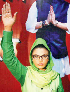 Rakhi Sawant is contesting from the Mumbai North West constituency after launching a political party called Rashtriya Aam Party.