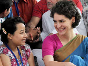 The meeting took place at the 12,TughlaqLane residence of Congress vice-presidentRahulGandhi which has been turned into a war room of sorts for theLokSabhapoll campaign and wherePriyankahas been a frequent visitor.