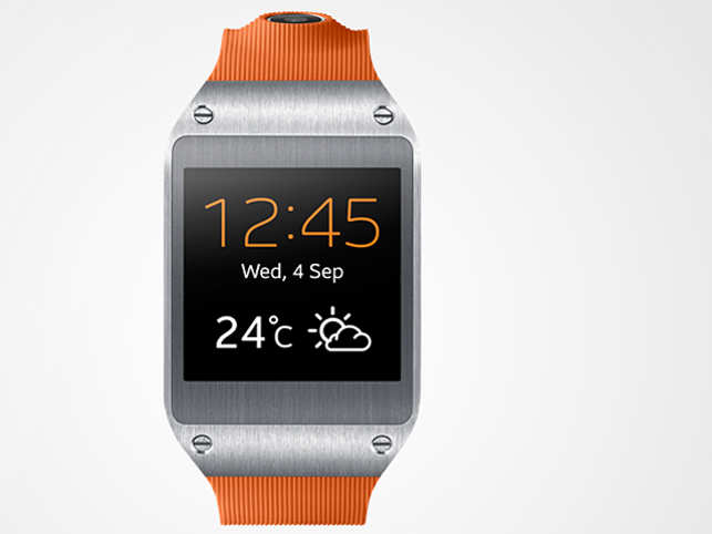 It has a brilliant curved touchscreen so the device can double as a smartwatch, delivering notifications from your smartphone to your wrist.