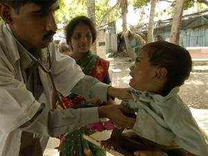 BMC holds a health camps for the slum dwellers of Chamundanagar on Monday after 12 more children were reportedly declared malnourished.