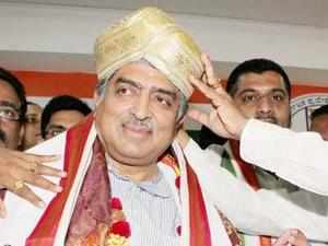 Congress' Nandan Nilekani tops the list with Rs 7,710 cr assets. Janta Dal (United)'s Anil Sharma is second with Rs 849 crore.