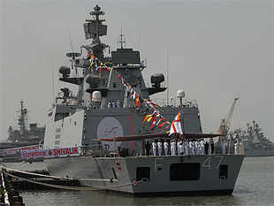INS Shivalik, an indigenously built stealth frigate has been invited by the PLA Navy to take part in the event marking its 65th anniversary.