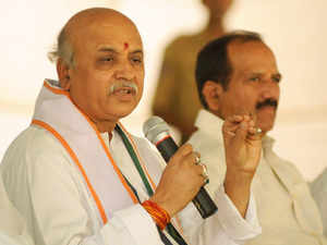 Togadia, however, distanced himself from the controversy, where he allegedly exhorted Hindus inBhavnagarto forcibly vacate a Muslim from his property.