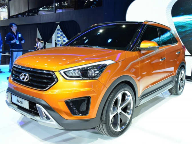 hyundai ix25 compact suv unveiled hyundai ix25 compact suv the economic times. Black Bedroom Furniture Sets. Home Design Ideas