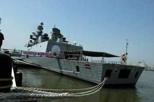 INS Shivalik, drew large crowds at the Chinese port of Qingdao when it was opened for public viewing while several dignitaries attended a reception hosted on its deck.