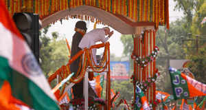 Experiencing Narendra Modi's massive yatra down the streets of Varanasi on Thursday, April 24, as he proceeded to file his nomination papers for the Lok Sabha election, it became obvious this wasn't any ordinary mobilisation.